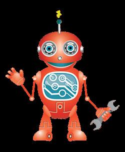 STEM BOT - STEM MINDS mascot